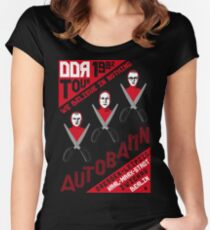 Autobahn 1982 East German Tour T-Shirt Women's Fitted Scoop T-Shirt