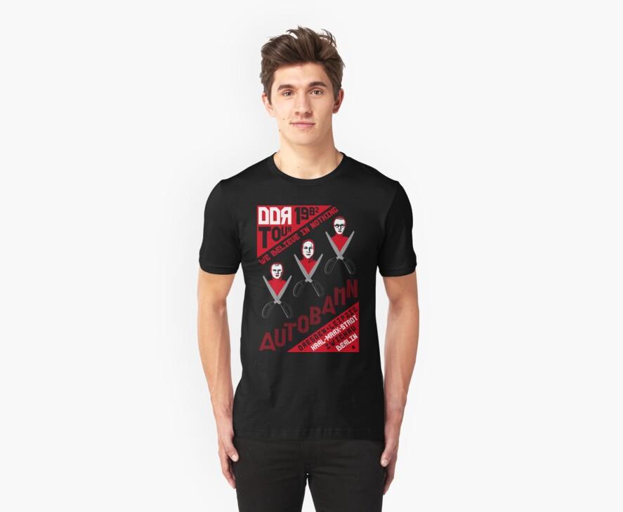 Autobahn 1982 East German Tour T-Shirt by castlepop