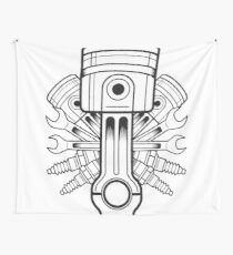 Piston lable Wall Tapestry
