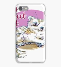 my sweet cat cartoon style illustration iPhone Case/Skin