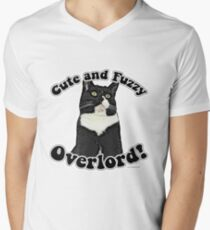 Cute Fuzzy Overlord Men's V-Neck T-Shirt