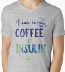 62967284 Coffee and Insulin- diabetes, diabetics, t1d, coffee Men's V-Neck T