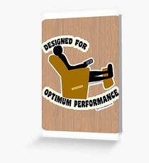 Optimum Performance Greeting Card