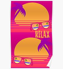 Relax at Sunset Poster