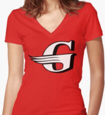Gloster Aircraft Company Logo Women's Fitted V-Neck T-Shirt