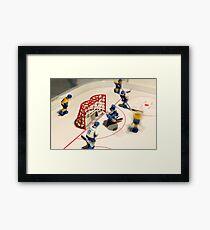 hockey goalie Framed Print