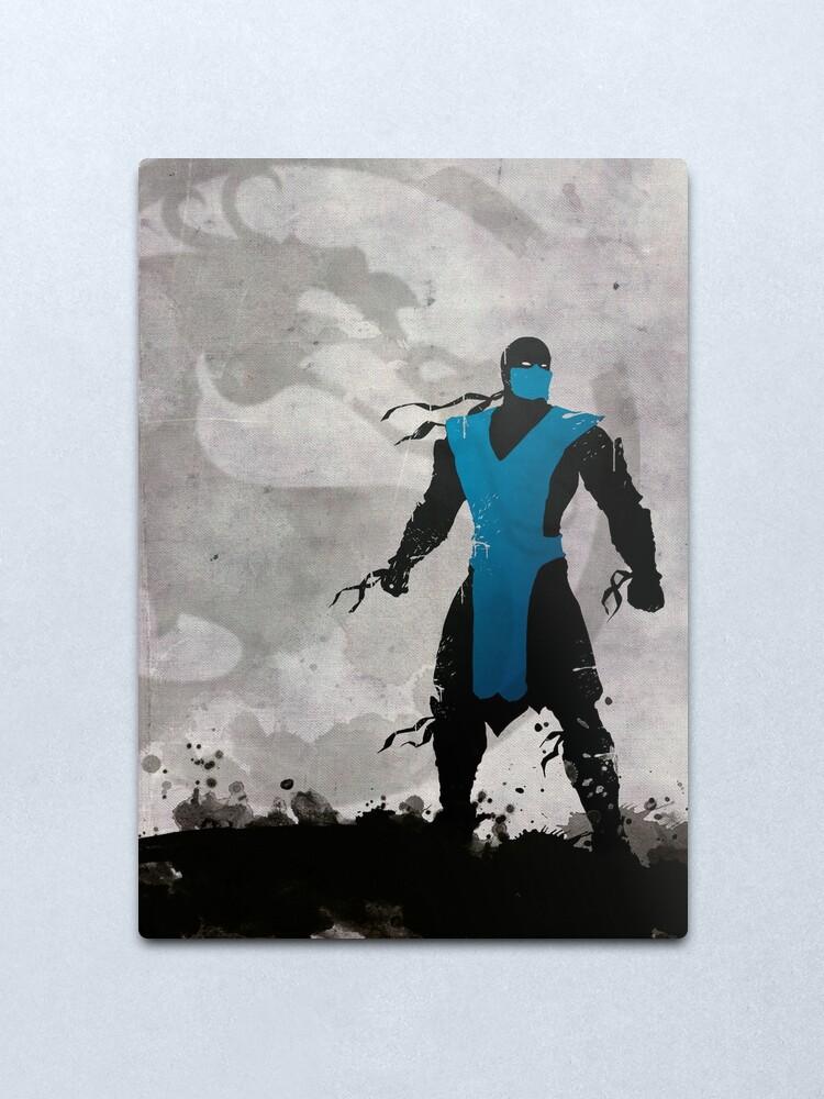 Alternate view of Mortal Kombat Inspired Sub-Zero Poster  Metal Print