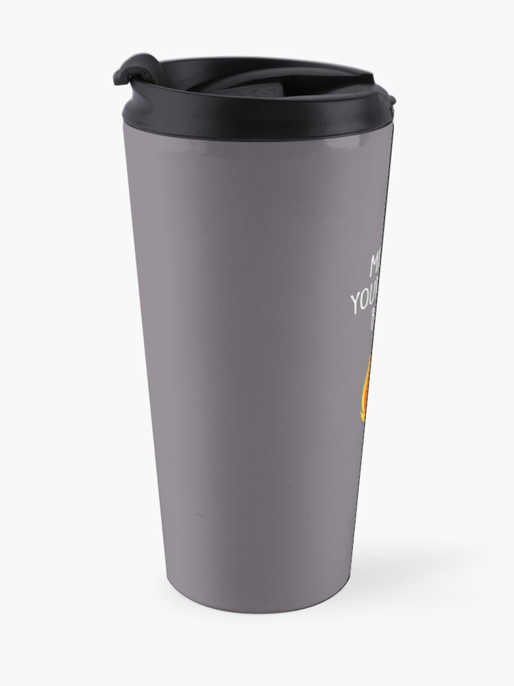 Alternate view of May All Your Bacon Burn Travel Mug