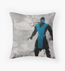 Mortal Kombat Inspired Sub-Zero Poster  Throw Pillow