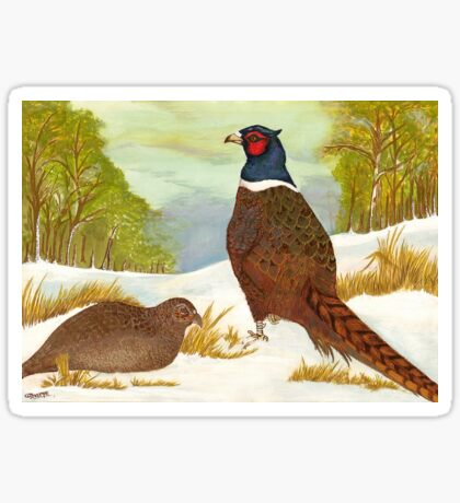 Brace of Pheasants Sticker