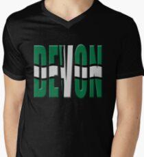 Devon flag Mens V-Neck T-Shirt