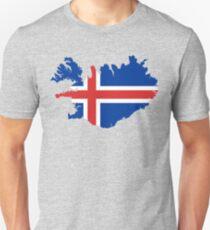 Island-Flaggen-Karte Unisex T-Shirt