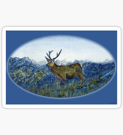 Red Deer on the Cabrach Sticker