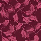 Falling Autumn Leaves In Plum by SmilinEyes