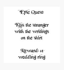 Wedding Ring Quest Photographic Print