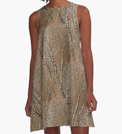 Bare Tree Branches Nature Art Design A-Line Dress