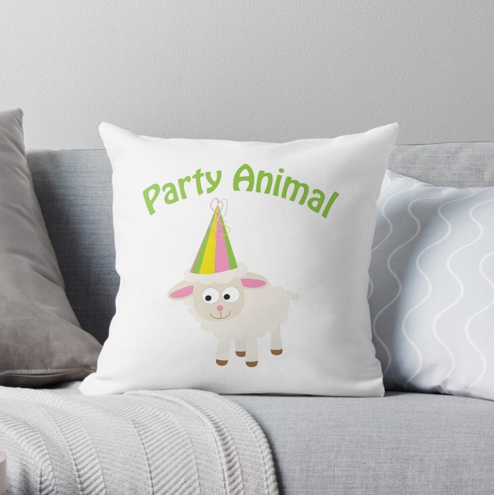 Partylöwe Lamm Dekokissen