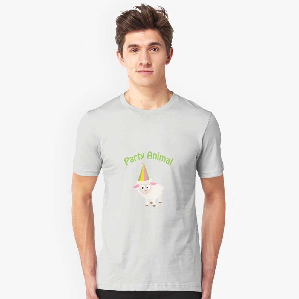 Partylöwe Lamm Slim Fit T-Shirt