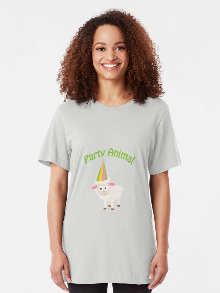 Alternative Ansicht von Partylöwe Lamm Slim Fit T-Shirt