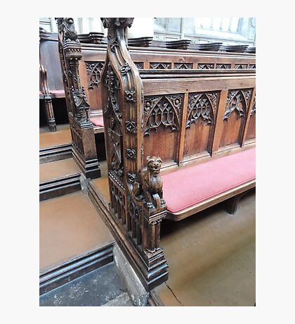 Bath Abbey Carvings Photographic Print