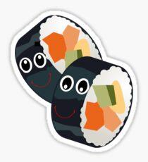 Happy Cartoon Sushi Sticker