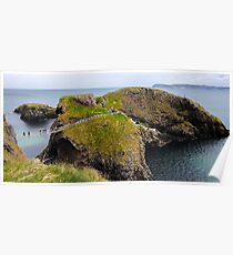 Carrick-a-Rede Rope Bridge - Northern Ireland Poster