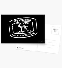 Republic of Newtown - 2014: White on Black Postcards