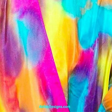 Fiesta Hand-painted Silk Desgin by Teena Hughes by AbfabTeena