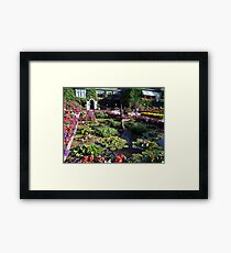 Italian Garden at the Butchart Gardens Framed Print