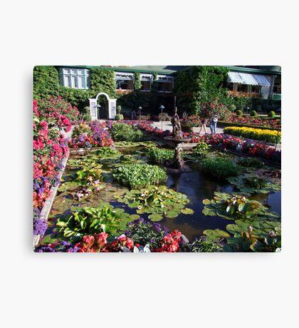 Italian Garden at the Butchart Gardens Canvas Print