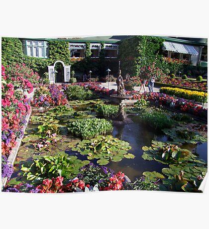 Italian Garden at the Butchart Gardens Poster