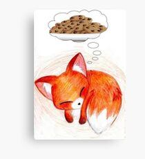 Red fox needs cookies Canvas Print