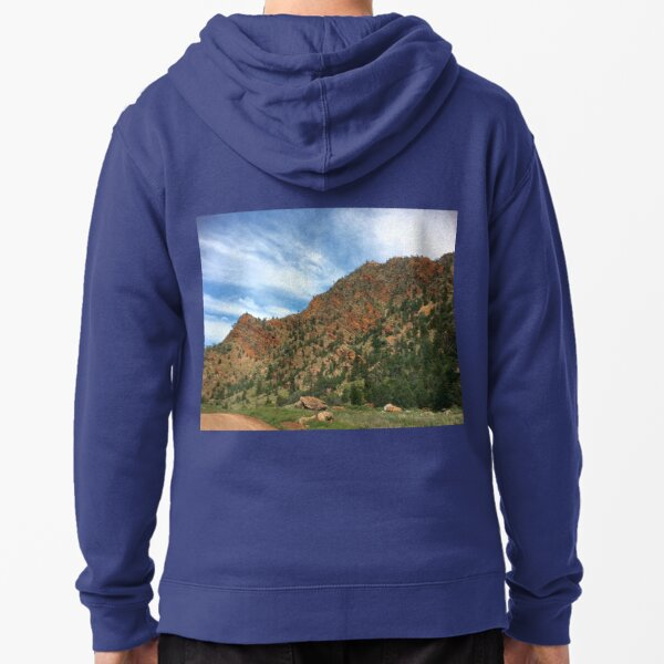Escarpment ~ Finders Ranges, South Australia Zipped Hoodie