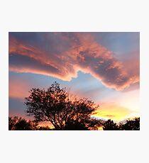 Pastel-Colored Nevada Sunset Photographic Print
