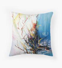 Original Landscape Tree Abstract Painting Modern Contemporary Fine Art  Throw Pillow
