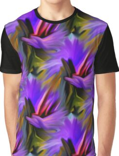 Purple Green  And Red  Abstract Strokes Graphic T-Shirt