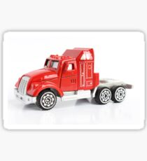 Isolated red toy truck  Sticker