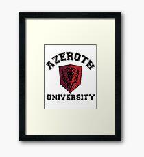 Azeroth University Framed Print
