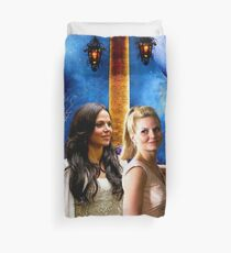 Swan Queen (Regina & Emma - Once upon a time) Duvet Cover