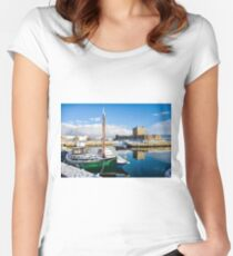 Carrickfergus Harbour Women's Fitted Scoop T-Shirt