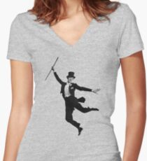 Astaire Women's Fitted V-Neck T-Shirt