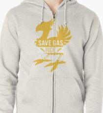 Save Gas Ride a Chocobo Zipped Hoodie