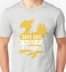 Camiseta unisex Ahorre Gas Ride a Chocobo