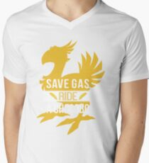 Save Gas Ride a Chocobo Men's V-Neck T-Shirt