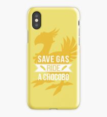 Save Gas Ride a Chocobo iPhone Case