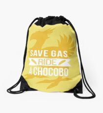 Save Gas Ride a Chocobo Drawstring Bag