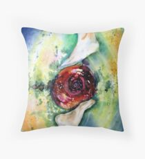 Earth Spirit Abstract Painting Modern Contemporary Fine Art  Throw Pillow