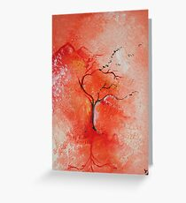 Season Change Original Tree Abstract Painting Modern Contemporary Fine Art Greeting Card