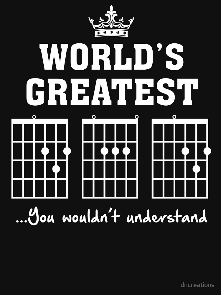 F chord DAD Funny Guitar Tee- Unique Father's Day Gift by dncreations