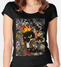 Cat Behemoth (Master & Margarita) Women's Fitted Scoop T-Shirt